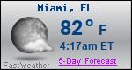 Weather Forecast for Miami, FL