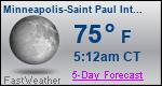 Weather Forecast for Minneapolis-Saint Paul International Airport, MN
