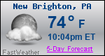 Weather Forecast for New Brighton, PA