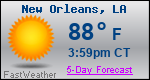 Weather Forecast for New Orleans, LA
