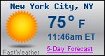 Weather Forecast for New York City, NY