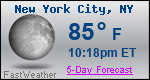Weather Forecast for New York, NY