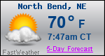 Weather Forecast for North Bend, NE