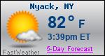 Weather Forecast for Nyack, NY