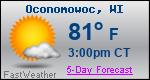 Weather Forecast for Oconomowoc, WI