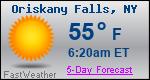 Weather Forecast for Oriskany Falls, NY