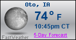 Weather Forecast for Oto, IA