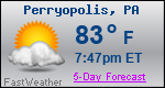 Weather Forecast for Perryopolis, PA