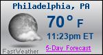 Weather Forecast for Philadelphia, PA