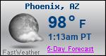 Weather Forecast for Phoenix, AZ