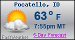 Weather Forecast for Pocatello, ID
