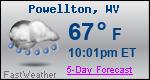 Weather Forecast for Powellton, WV