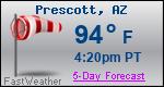 Weather Forecast for Prescott, AZ