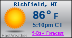 Weather Forecast for Richfield, WI