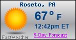 Weather Forecast for Roseto, PA