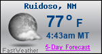Weather Forecast for Ruidoso, NM