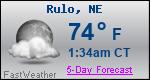 Weather Forecast for Rulo, NE