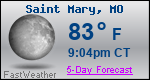 Weather Forecast for Saint Mary, MO