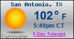 Weather Forecast for San Antonio, TX