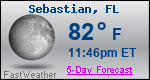 Weather Forecast for Sebastian, FL