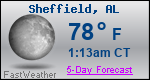 Weather Forecast for Sheffield, AL