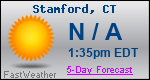 Weather Forecast for Stamford, CT