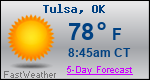 Weather Forecast for Tulsa, OK