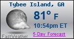 Weather Forecast for Tybee Island, GA