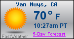 Weather Forecast for Van Nuys, CA