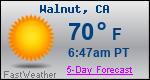 Weather Forecast for Walnut, CA