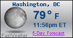 Weather Forecast for Washington, DC