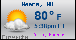 Weather Forecast for Weare, NH