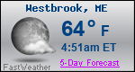 Weather Forecast for Westbrook, ME