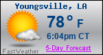 Weather Forecast for Youngsville, LA